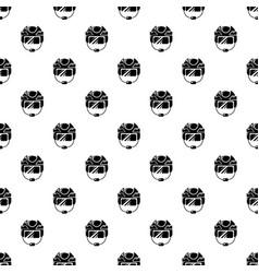 Hockey helmet pattern seamless vector