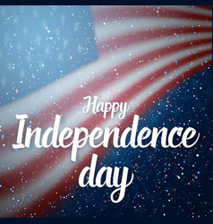 independence day usa poster 4th july vector image