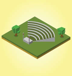 Isometric ampitheater vector image vector image