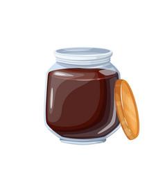 Jar chocolate spread icon vector