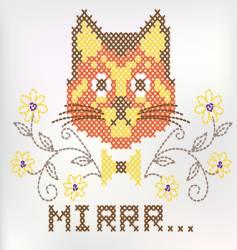 Knitted kitten vector