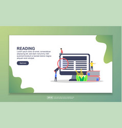 landing page template reading modern flat vector image