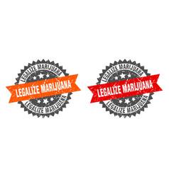 Legalize marijuana band sign legalize marijuana vector
