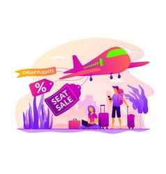 Low cost flights concept vector