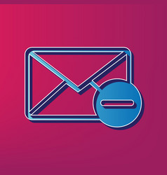 mail sign with remove mark vector image