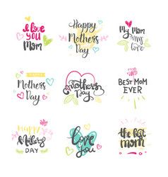 mothers day set of creative logos isolated holiday vector image