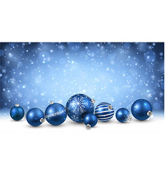 New Year background with Christmas balls vector