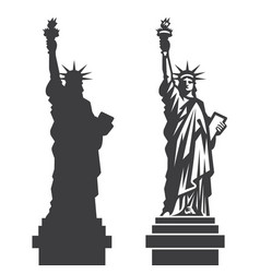 new york statue liberty silhouette vector image