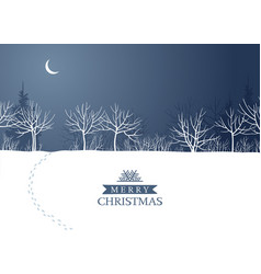 night winter forest in moonlight image vector image