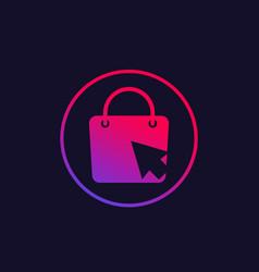 Online shop logo vector