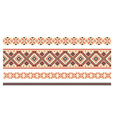 pattern for traditional ukrainian cross-stitch vector image