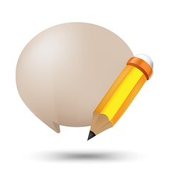 Pencil Bubble Balloon Text Symbol vector image
