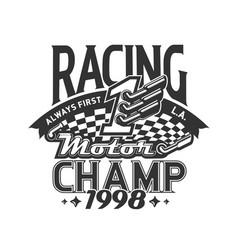 rally championship motocross t-shirt print vector image