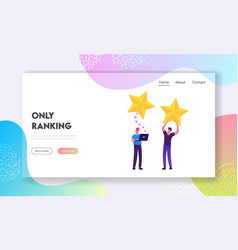 ranking evaluation and classification website vector image