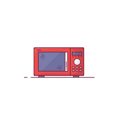 Red microwave line style vector
