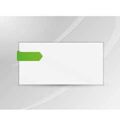 Ribbon or bookmark with blank paper vector