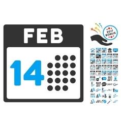 Romantic Valentine Day Icon With 2017 Year Bonus vector