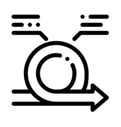 Round agile arrow mark with comments icon vector