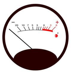 Round vu meter no signal vector