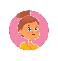 Sad worried girl vector