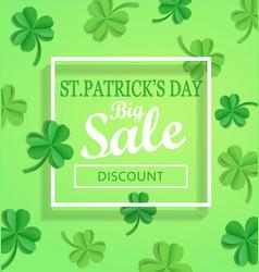 saint patricks day sale poster template vector image