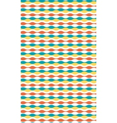 Seamless bright horizontal wave abstract pattern vector image