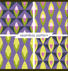 Set of four seamless geometrical patterns 18 vector