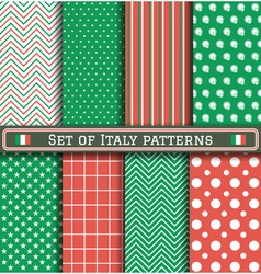 Set of Italia Independence day patterns vector