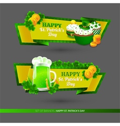 Set with banners on St Patricks Day vector image
