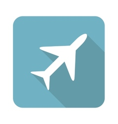 Square plane icon vector