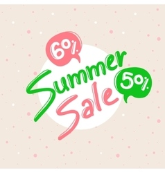 Summer Sale design with lettering in soft vector image