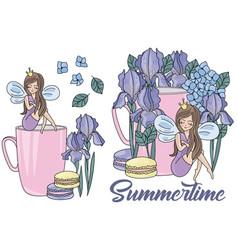 summertime cartoon wedding clipart color vector image