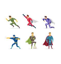Superhero - set of modern cartoon people vector