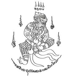 Tattoo Thai Style 1 vector image