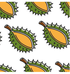 thailand exotic fruit durian seamless pattern thai vector image