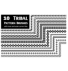 Tribal pattern brushes collection vector