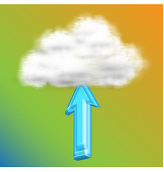 upload to cloud vector image