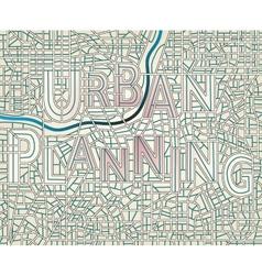 Urban planning vector