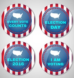 Usa presidential election campaign badges vector