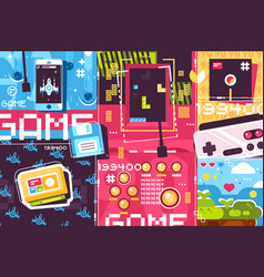 video game abstract background vector image