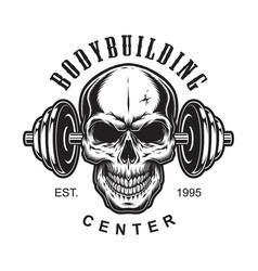 Vintage bodybuilding label concept vector