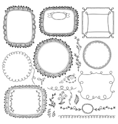 Vintage hand made frame set vector