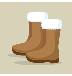 winter season boots icon vector image