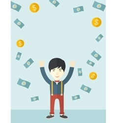Young and cheerful chinese man vector image