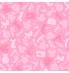 Background for woman shopping items on seamless vector image vector image