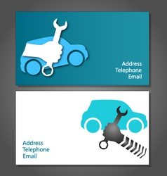 Business card for auto repair vector image
