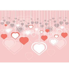 Decorative Hearts Background vector image