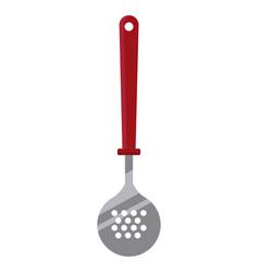frying spoon kitchen utensil vector image vector image