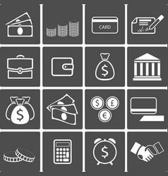 Money icons set vector