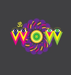 WOW art poster vector image